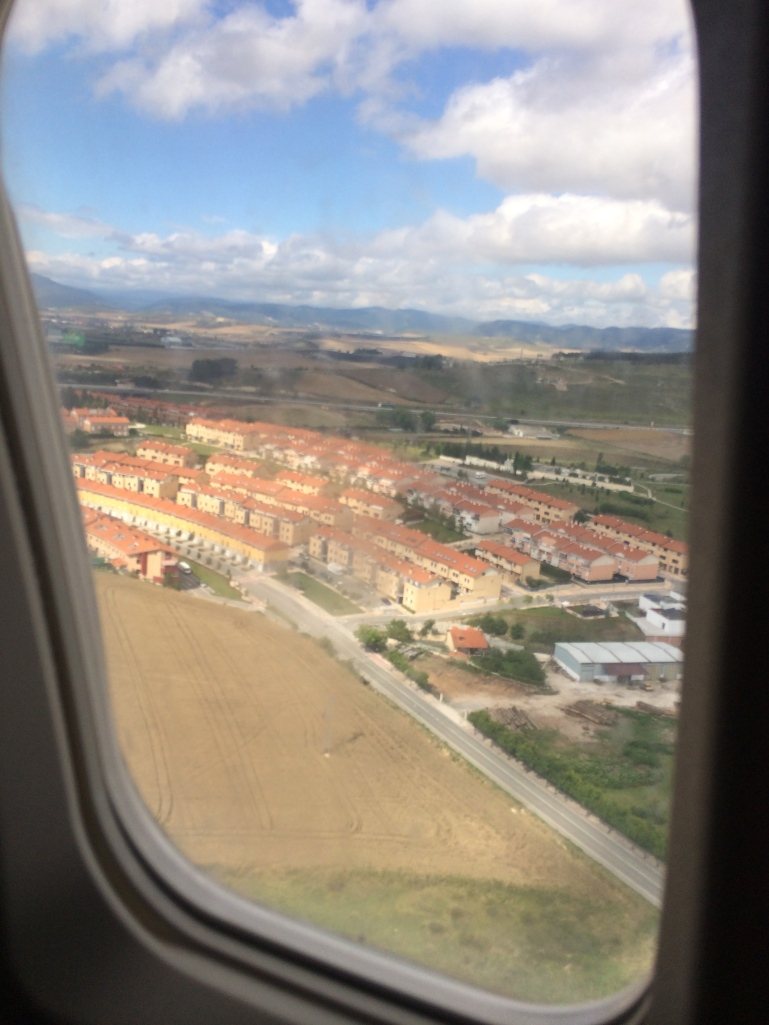 flying into Pamplona